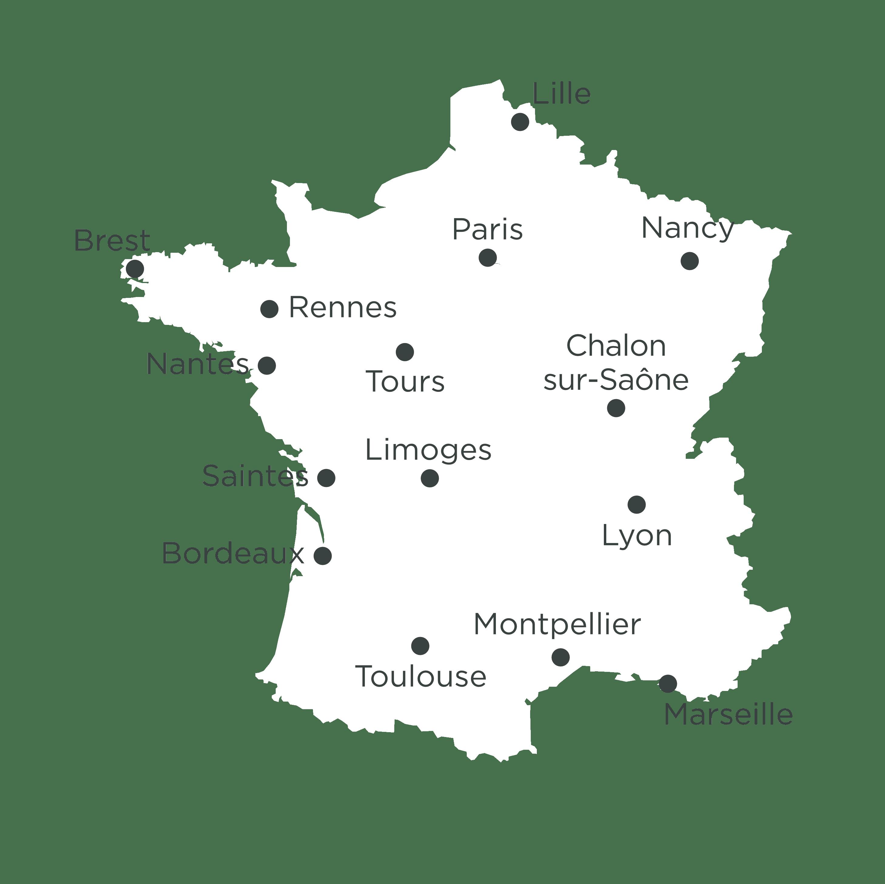 ADRÉ Réseaux - Carte